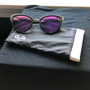 Quay Australia My Girl sunglasses w/ purple lenses
